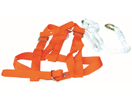 Double sided safety belt for derrick man