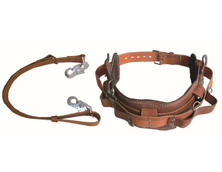Cow leather safety belt